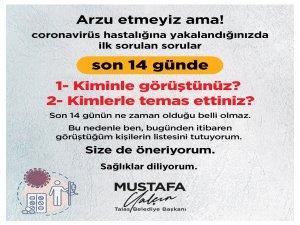 """Talas Belediye Başkanı Yalçın: """"Görüştüğüm kişilerin listesini tutuyorum, size de öneriyorum"""""""