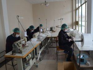 Develi Devlet Hastanesi Personelleri Maske Üretimine Başladı