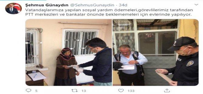 Kayseri'de Yardım ödemeleri vatandaşların adreslerinde yapılıyor