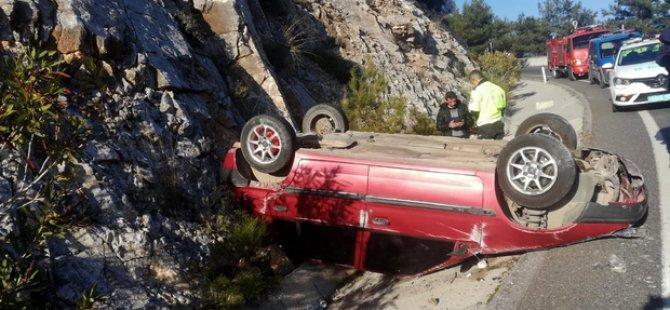 Kemer Mahallesinde trafik kazası: 2 yaralı