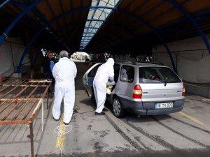 Develi Belediyesi araç dezenfekte çalışmalarına başladı