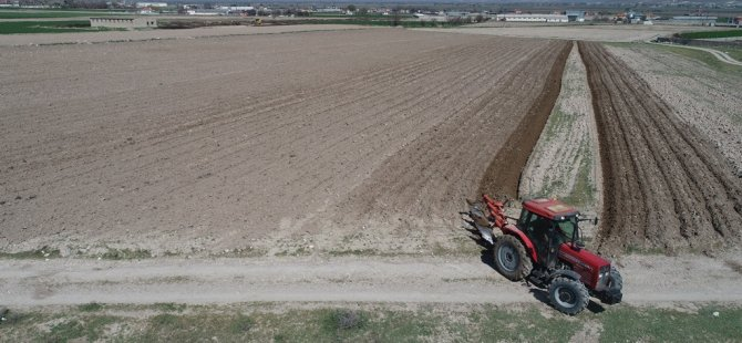 Kocasinan Belediyesi 90 bin dönüm tarla ekiyor