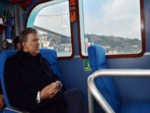 Gül'ün YGS hassasiyeti sabahki programında deniz yolunu tercih etti