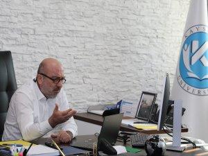 KAYÜ Rektörü Karamustafa, uzaktan eğitim sistemi üzerinden öğrencilerle buluştu