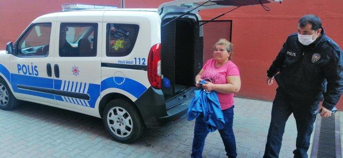 Araması bulunan kadın Kocasinan bulvarında yakalandı
