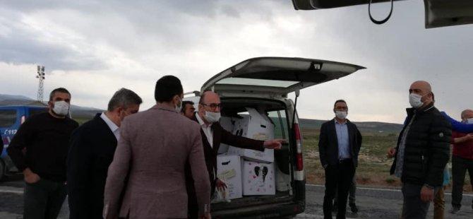 Ak Parti İl Başkanlığından Bünyan Akmescit'e iaşe yardımı