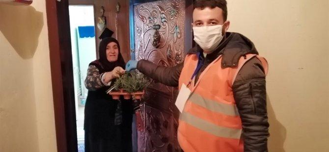 Talas Belediyesi'nden çiçek sepeti