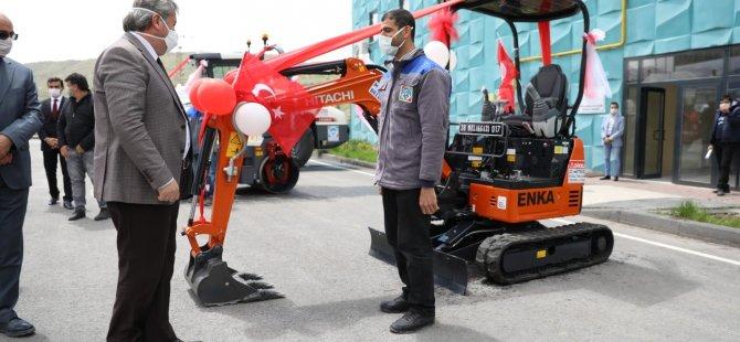 Melikgazi'nin 5 yeni aracı hizmette yarışmaya başladı