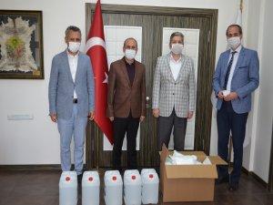 LGS'ye girecek öğrencilerin maske ve el dezenfektanları Bünyan Belediyesi'nden