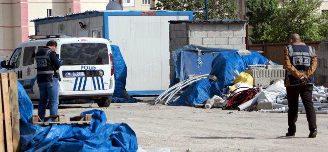 Kocasinan zümrütte İnşaat bekçisi kulübede ölü bulundu