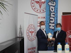 Kayseri İli Damızlık Sığır Yetiştiricileri Birliği Başkanı Günay Çakı sağlık çalışanlarının yanında olduklarını söyeldi