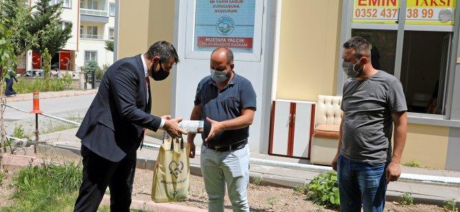 Talas Belediyesi'nden taksi duraklarına hijyen paketi