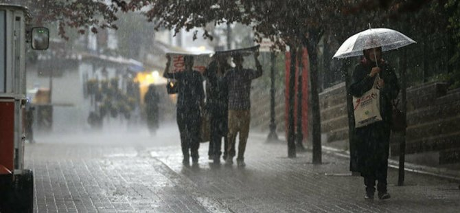 Kayseri'de kuvvetli yağış uyarısı