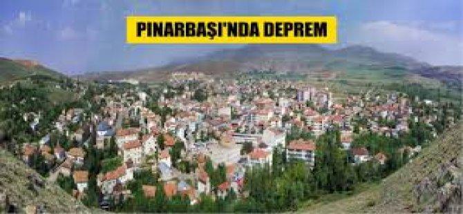 Pınarbaşı ilçesinde gece saatlerinde deprem