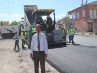 Tomarza'da sıcak asfaltlama çalışmaları başladı
