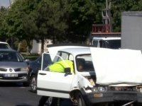 Kocasinan Bulvarı Otomobil minibüse arkadan çarptı: 5 yaralı