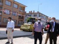 Melikgazi Lefke Caddesi,ve Hazar Sokak'ta elektrik hatları yer altına alındı
