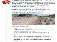 Başkan Ahmet Çolakbayrakdar'dan Ebiçli Burak'a Cevap