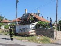 Kocasinan yenidoğan mahallesi'nde çatı yangını