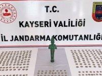 Nevşehir'den Kayseri'ye tarihi eser satmak için gelen 3 kişi yakalandı