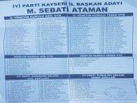 İyi Parti Kayseri İl Başkanı Sebati Ataman'ın Yönetimi Belli Oldu