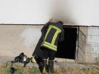 Alsancak Mahallesi'nde Kömürlükte yangın çıktı