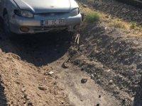 Kayseri-Niğde karayolunda araç refüje girdi