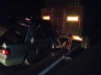 Kayseri-Ankara Yemliha yolu trafik kazası 2 ölü, 1 yaralı