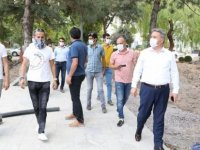 Palancıoğlu, Alparslan Parkı yenileme çalışması hakkında bilgiler aldı