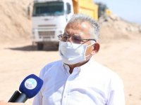 Kayseri Büyükşehir Erkilet Hıdırellez Yolu'nda dağları deliyor