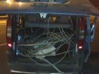 İncesu'da haberleşme ve enerji kablosu çalan 2 kişi yakalandı