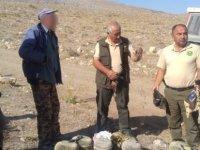 Kaçak avlanan keklik avcılarına ceza kesildi