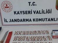 Kayseri'de uyuşturucu hap ele geçirildi Y.D. gözaltına alındı