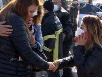 Kaza yapan kadınlar gözyaşlarına boğuldular
