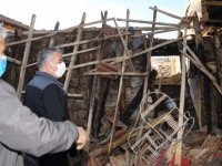 Bünyan Kahveci'de ahır yandı 9 hayvan telef oldu