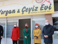 Çolakbayrakdar İŞKUR'dan engelli hibe desteğiyle iş yeri açan ezgim yorgan evini ziyaret etti