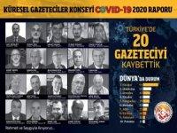 COVID19 RAPORU 20 GAZETECİYİ KAYBETTİK