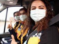 Kayseri'de paramedik bayan ambulans şoförleri göreve başladı