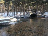 Melikgazi Beştepeler mesire alanı buz tuttu