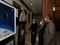 Başkan Büyükkılıç,Özhaseki ile Mimarsinan sergisini gezdi