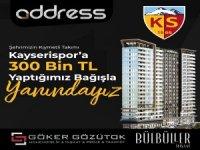 GÖKER GÖZÜTOK İNŞAAT'TAN KAYSERİSPOR'A 300 BİN TL BAĞIŞ