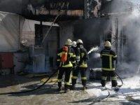 Gesi'de benzinlik istasyonunda yangın çıktı