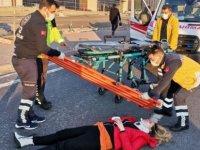 Talas'ta genç kız araçtan atladı