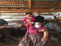 Yahyalı'da 10 haneli köyde 8 kişiye aşı yapıldı