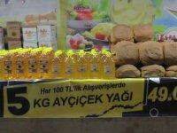 Kayseri'de açılan yöresel fuarında ayçiçek yağı 49 tl