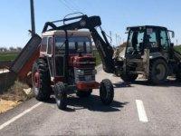 Kocasinan Belediyesi Kaş köyünde devrilen traktörün imdadına yetişti