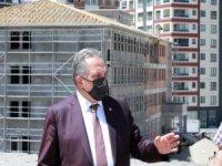 Başkan Yalçın 32 derslik okul inşaatını inceledi