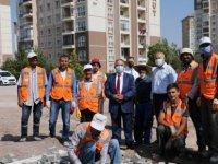 Talas Belediye Başkanı Yalçın Covid sonrası incelemelerde bulundu