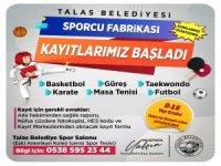 Talas sporcu fabrikasında kurs kayıtları başladı