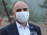 Kayseri'de 80 hektarlık alanda çıkan yangını söndürme çalışmaları devam ediyor